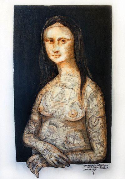 Versión de Didac Checa de la Mona Lisa de Da Vinci