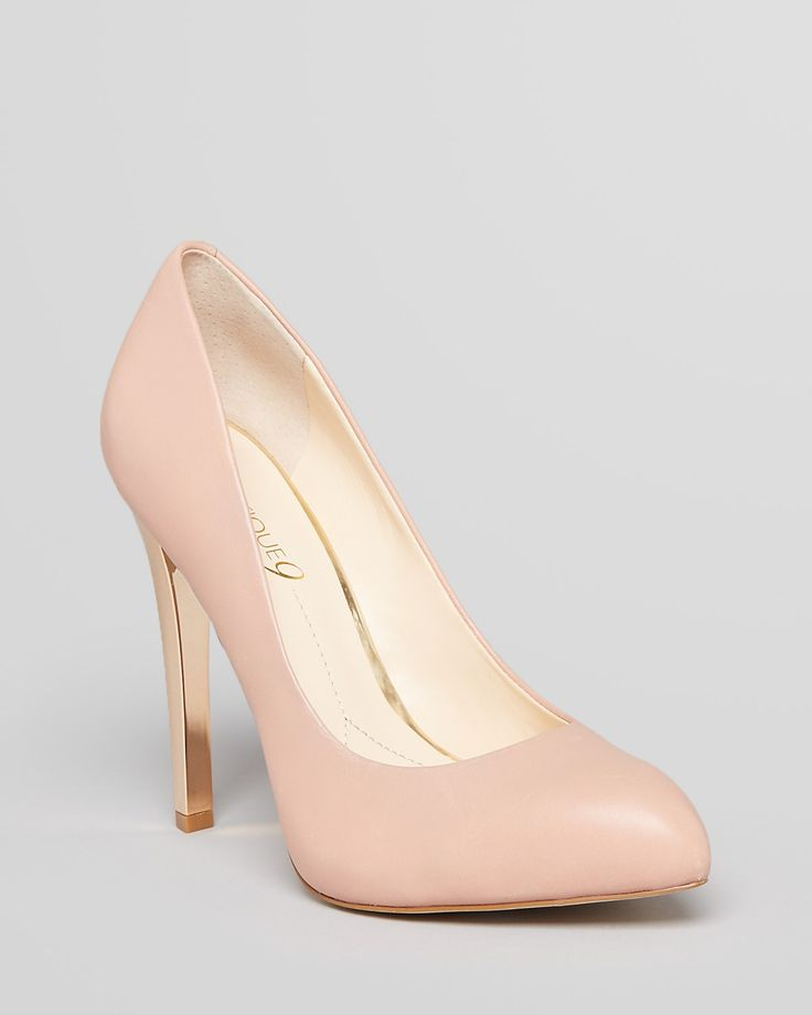 + A Pair of light pink / nude pumps  Keep them simple so you can match  Notice the gold heel? That's the perfect amount of detail (especially with your MK watch)