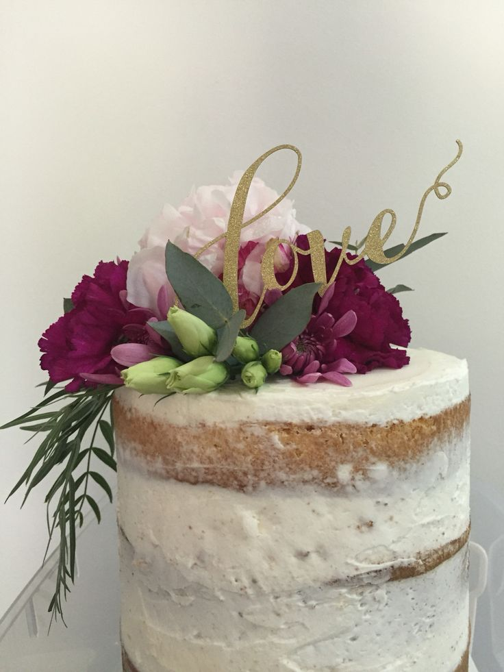 Engagement Cake Flowers by: Bloomfields Floral Design, Adelaide South Australia Berry and pink flowers, Peony