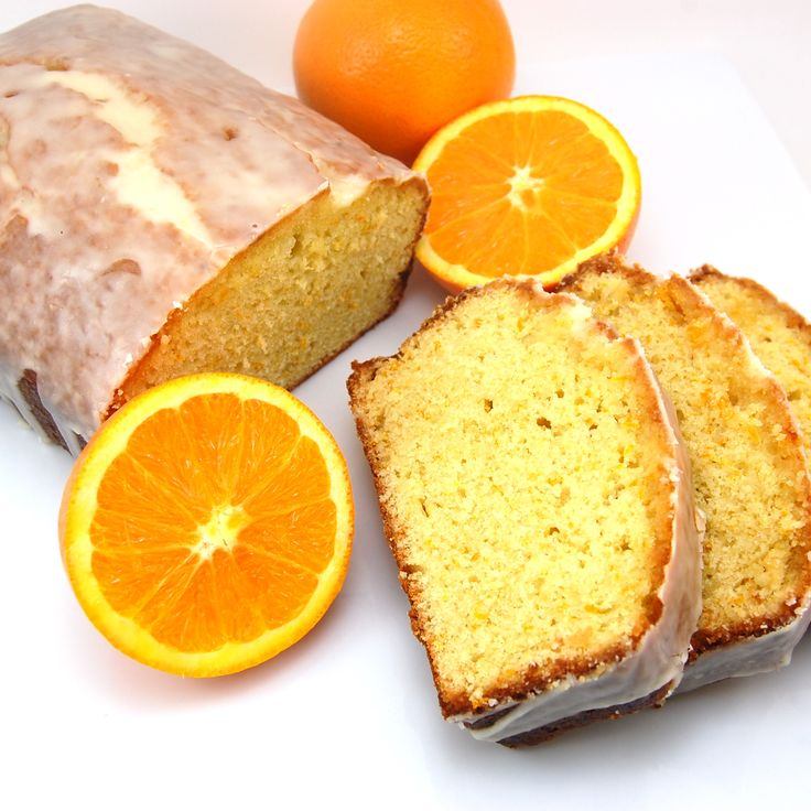 ... orange syrup then drizzled with an orange glaze. This pound cake is