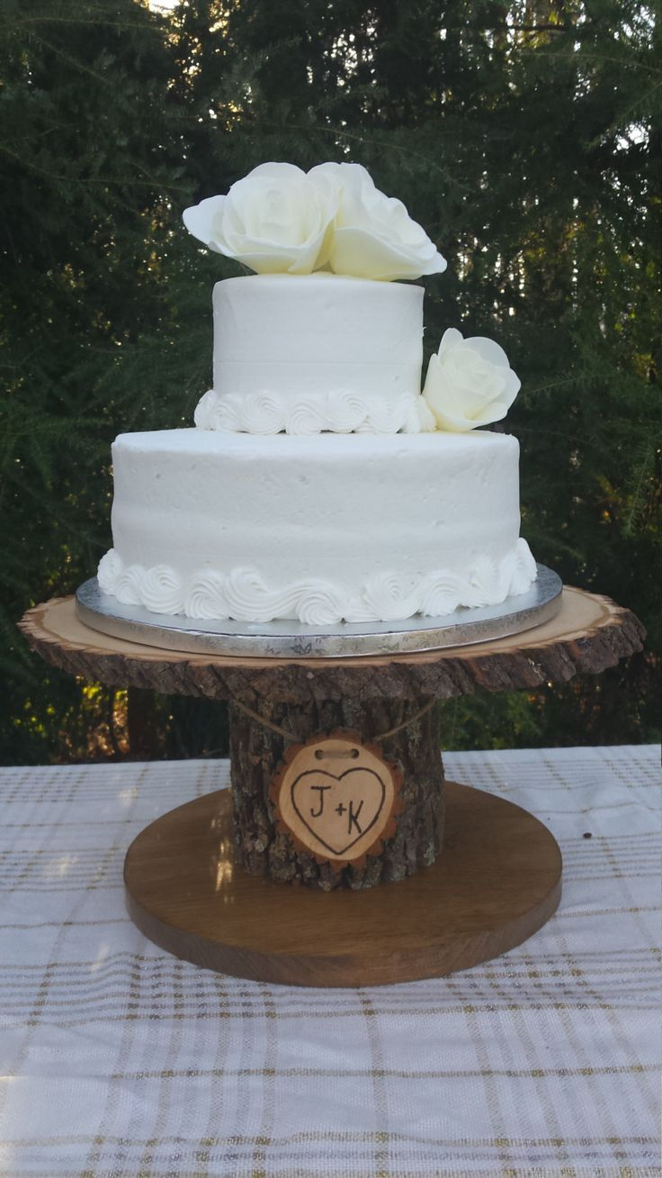 Wood Cupcake Stand Personalized Cake Stand Log Cake Stand