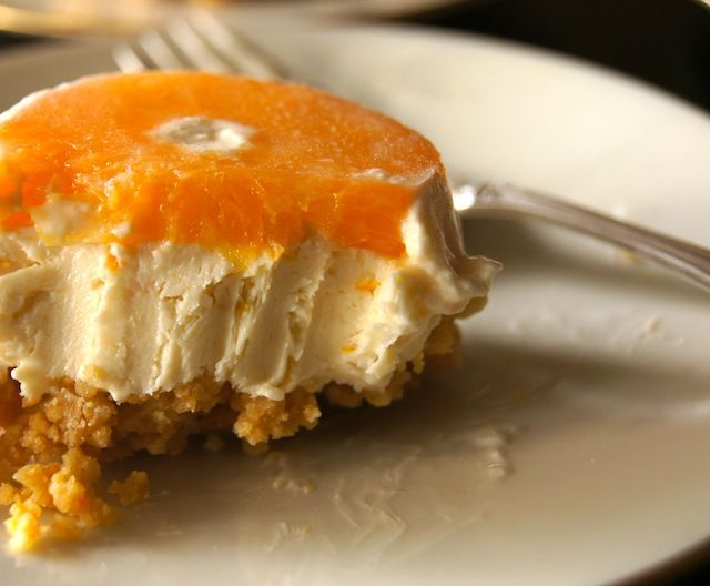 Ojai Pixie Tangerine Individual Cheesecakes Recipe | cookingontheweekends.com I CAN USE MY GF GRAHMCRACKERS W/THIS
