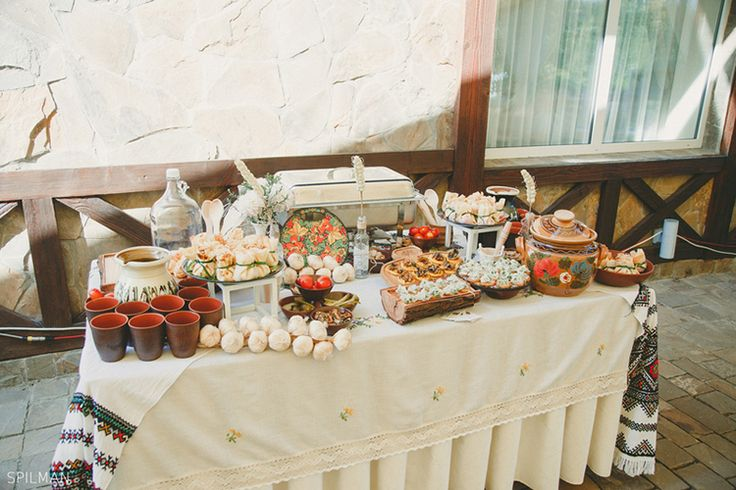 Buffet in the Ukrainian style