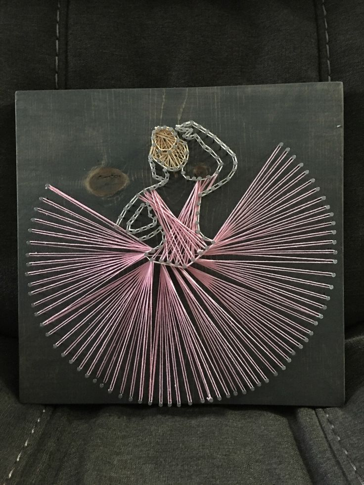 A personal favorite from my Etsy shop https://www.etsy.com/listing/510622571/dancer-string-art-ballerina