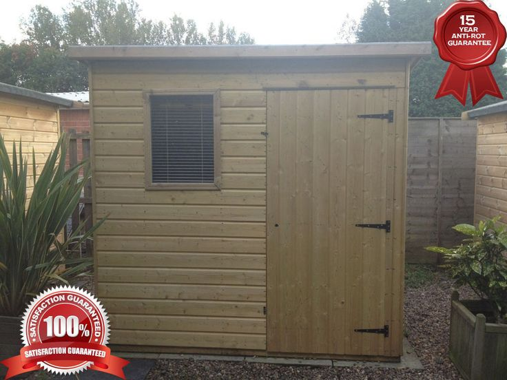 6x4 pent garden sheds heavy duty fully tanalised 299