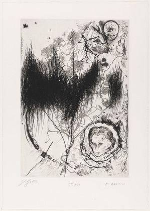 Günter Brus with Arnulf Rainer. Untitled from Depth Obscured (Vertiefung Mit Bewölkung). 1985-86