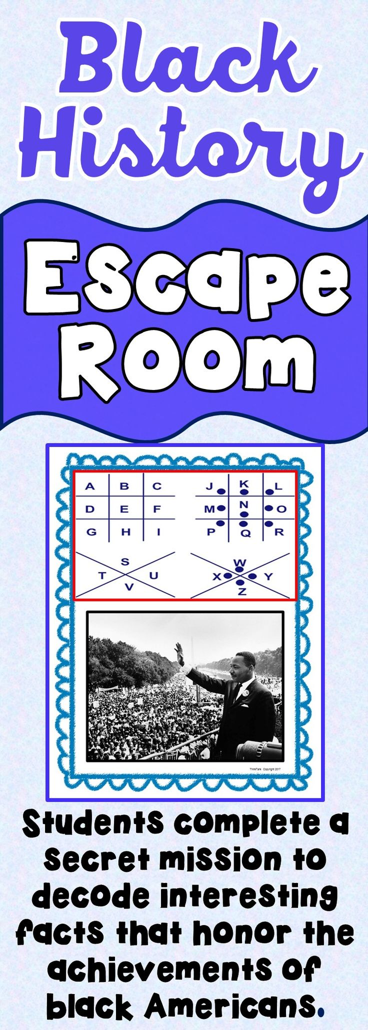 The Black History Escape Room will take students on a secret mission around  the classroom!
