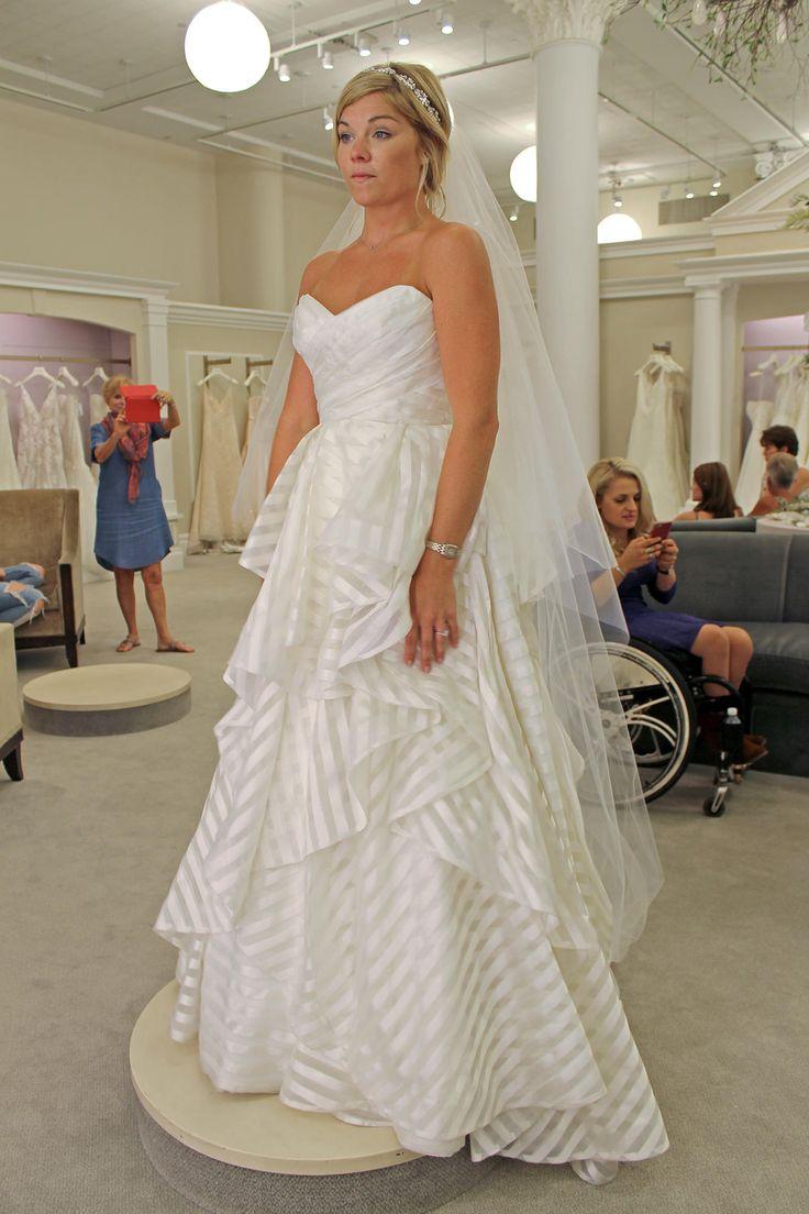 season 14 featured dress hayley paige hp6315 guindon ivory striped with