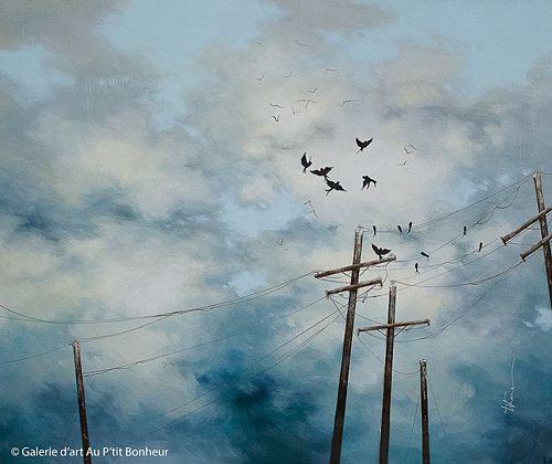 Tammy Shane, 'Follow Me', 30'' x 36'' | Galerie d'art - Au P'tit Bonheur - Art Gallery