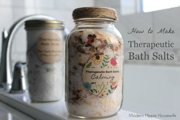 How to make therapeutic bath salts to suite your mood!