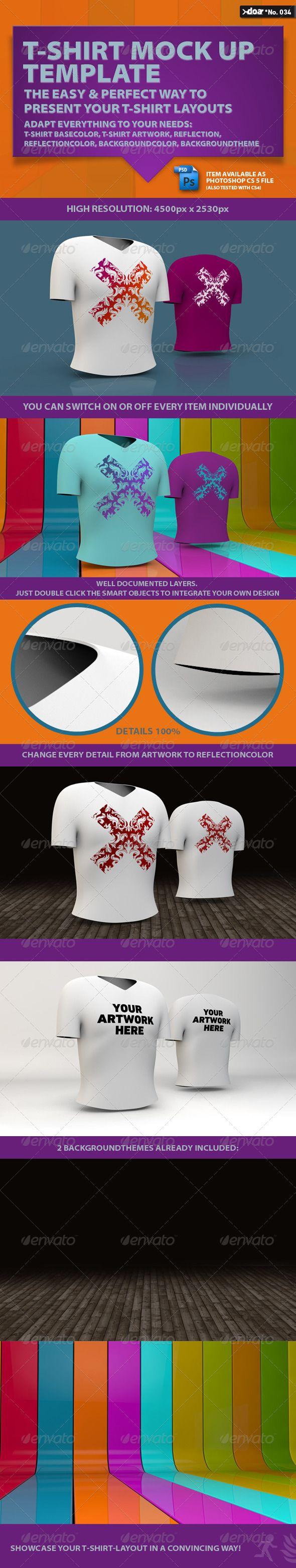 Design t shirt photoshop cs5 - T Shirt Mock Up Template