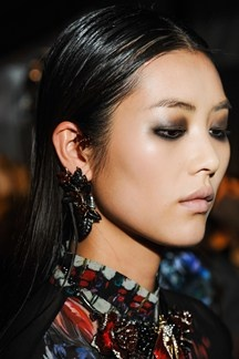 Roberto Cavalli: Autumn Winter 2013-14 Fashion Week Hairstyles (Vogue.com UK)