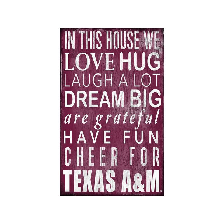 Texas A&M Aggies In This House Wall Art, Multicolor