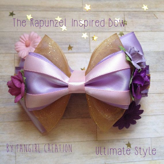 The Rapunzel Inspired Bow by FangirlCreation on Etsy