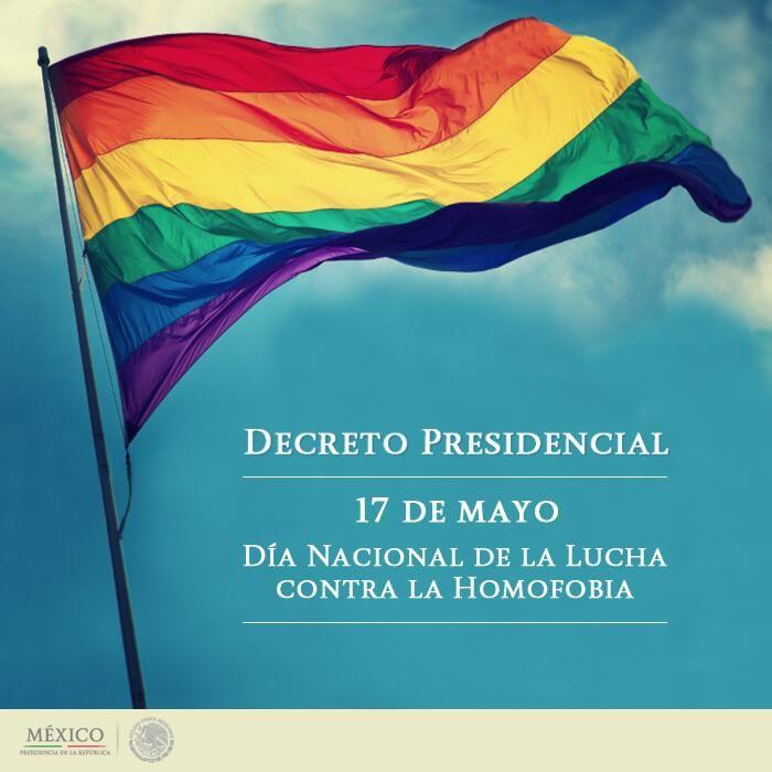 México conmemora por 1era. vez el Día Nacional de la Lucha contra la #Homofobia pic.twitter.com/J4E5JQbLBo #MéxicoSinHomofobia