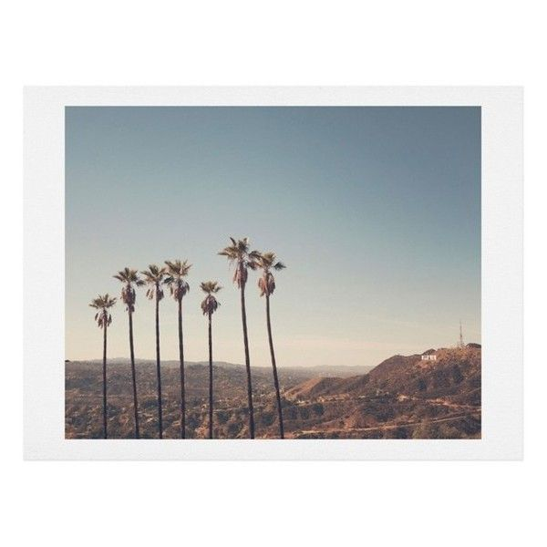 Deny Designs Hollywood Hills Art Print (¥2,115) ❤ liked on Polyvore featuring home, home decor, wall art, blue, blue home decor, deny designs home accessories, blue wall art and deny designs