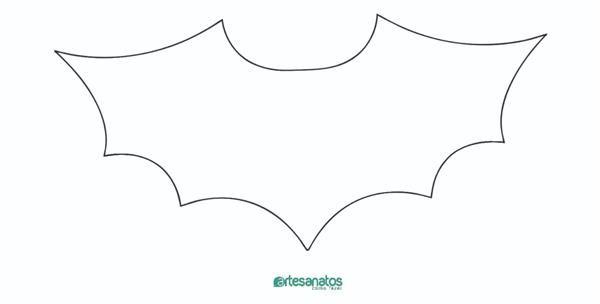 Molde De Morcego Para Imprimir E Recortar Molde Morcego Asas De
