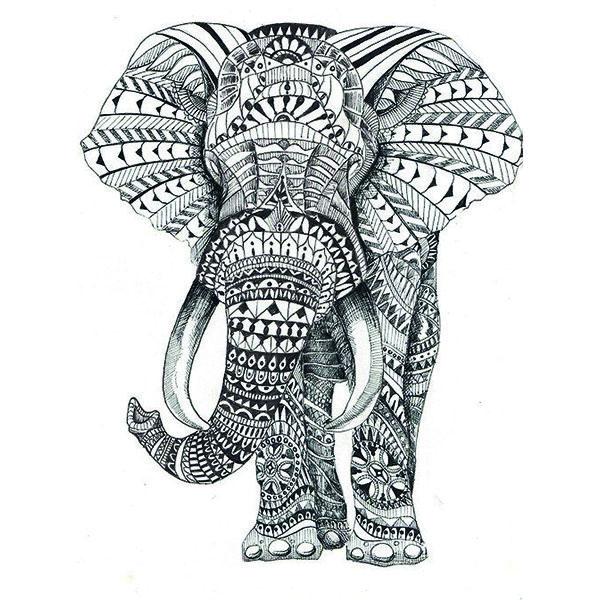 Bildresultat för elephant mandala tattoo
