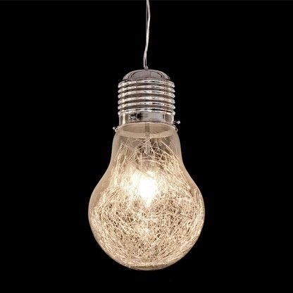 Check out this Giant Light Bulb Pendant £60 Glow Company