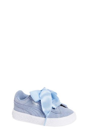 Free shipping and returns on PUMA Heart Sneaker Sneaker (Baby, Walker & Toddler) at Nordstrom.com. Grosgrain laces allow you to top this darling suede sneaker with an even cuter bow.