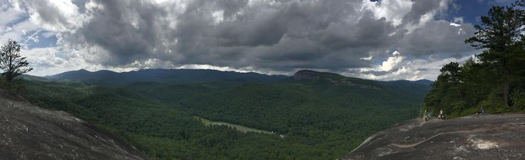 The clouds make for a better view. View of Looking Glass Rock from John's Rock Pisgah Forest Western NC USA #hiking #camping #outdoors #nature #travel #backpacking #adventure #marmot #outdoor #mountains #photography