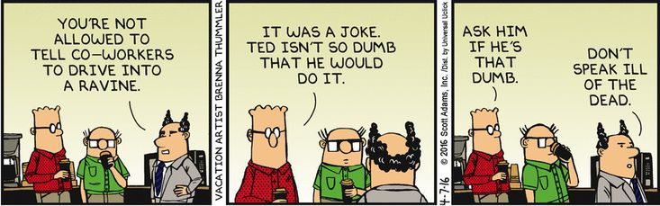 Ted Is Not That Dumb - Dilbert by Scott Adams