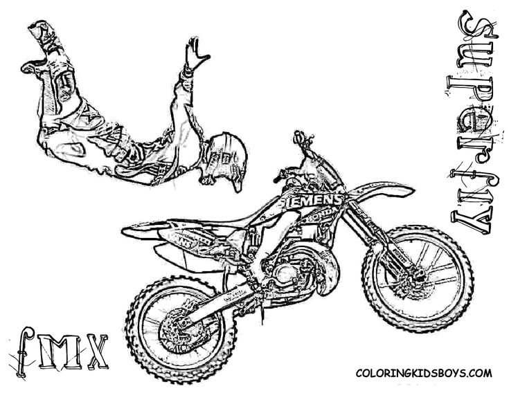 free printable dirt bike coloring pages | coloring kids boys that i can print.com | ... Printables ...