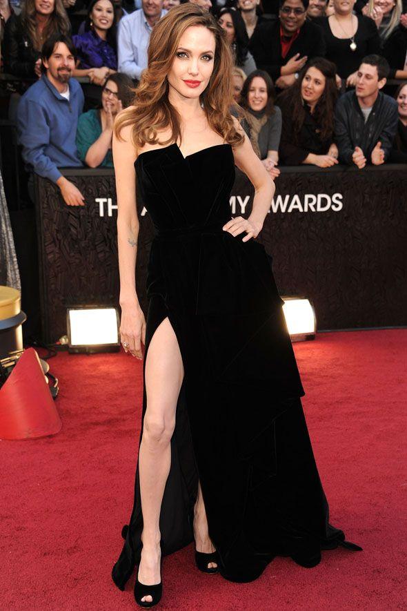 Inspiração vestidos:Angelina Jolie