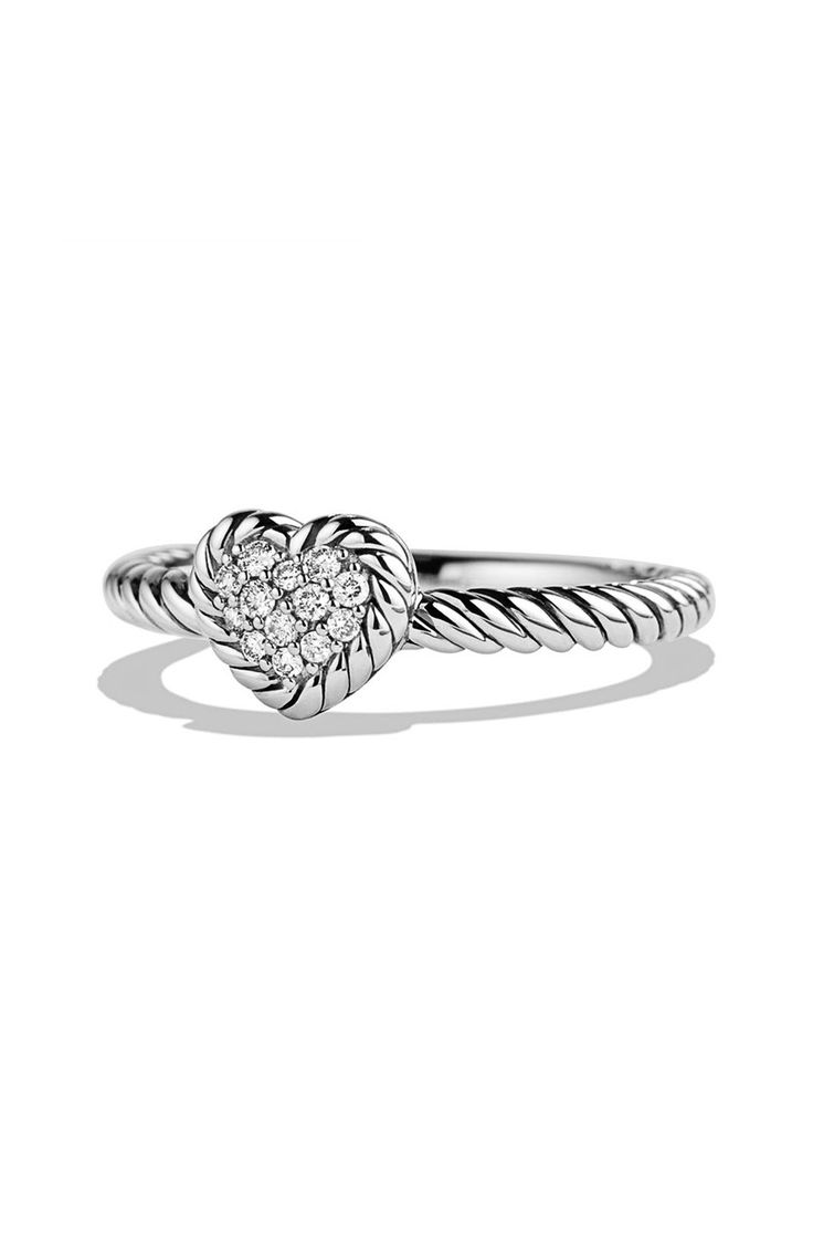 'châtelaine' Heart Ring With Diamonds