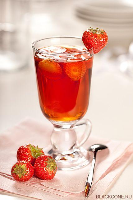 35PHOTO - black cone - Чай с клубникой.