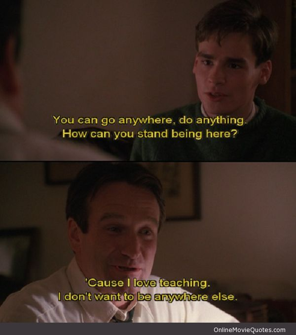 ...I Love Teaching. I don't want to be anywhere else. #makesmyday #deadpoetssociety