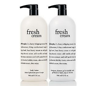 philosophy fresh cream duo. smells so clean and feels so good on your body