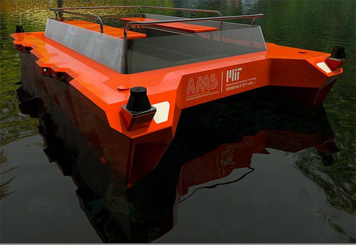 autonomous boats amsterdam roboat designboom