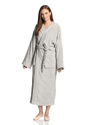 40% OFF Aegean Apparel Women's Long Robe with Hood (Gray)