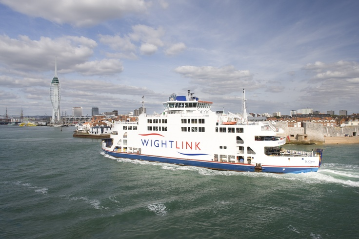 St Clare, Wightlink's Flagship, which operates between Portsmouth & Fishbourne