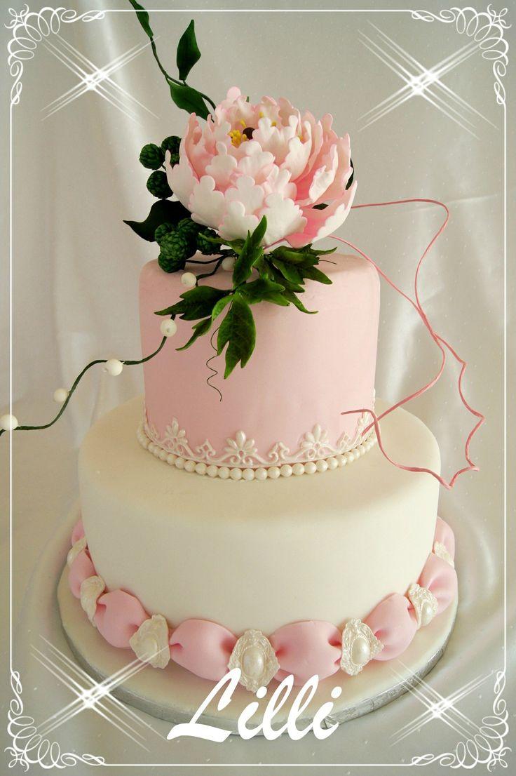 Peony - pink cake