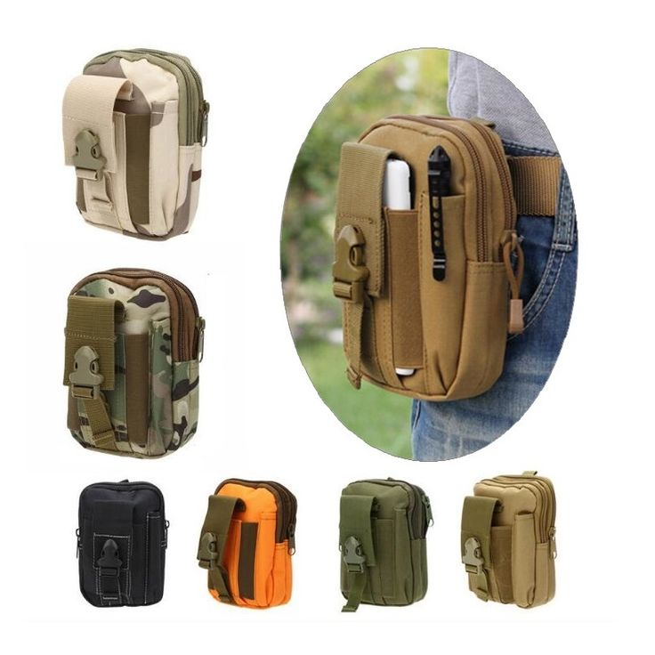 Outdoor Camouflage Bag Tactical Army Phone Holder Pack Sport Waist Belt Case Waterproof Nylon EDC Fanny Pouch Hunting Camo Bags