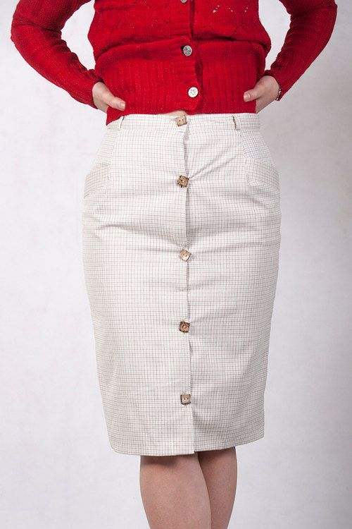 Checkered Pencil Skirt Pin Up by ChaSho on Etsy