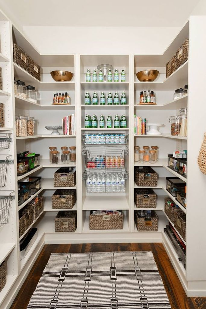 25 Best Pantry Organization Ideas We Found On Pinterest Godiygo Com Diy Home In 2020 Kitchen Pantry Design Pantry Design Pantry Redo