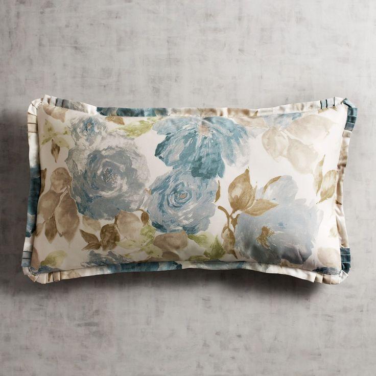 Vintage Rose Blue King Pillow Sham