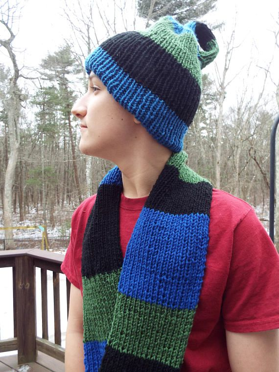 Mobius scarf and Klein bottle hat set -- the perfect combo gift for the math teacher, scientist or math lover in your life. They are sure to rock the Pi Day party with this made to order combo. From Creations by Maris https://www.etsy.com/listing/579506788/mobius-scarf-and-klein-bottle-hat-set-pi