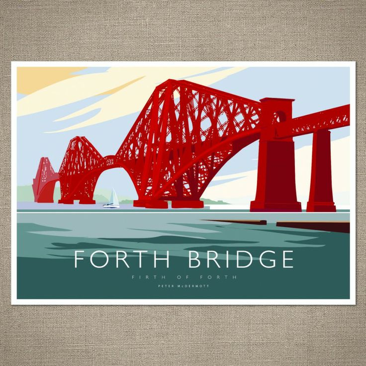 Forth Rail Bridge by Peter McDermott - lovely way to arrive in the Kingdom of Fife