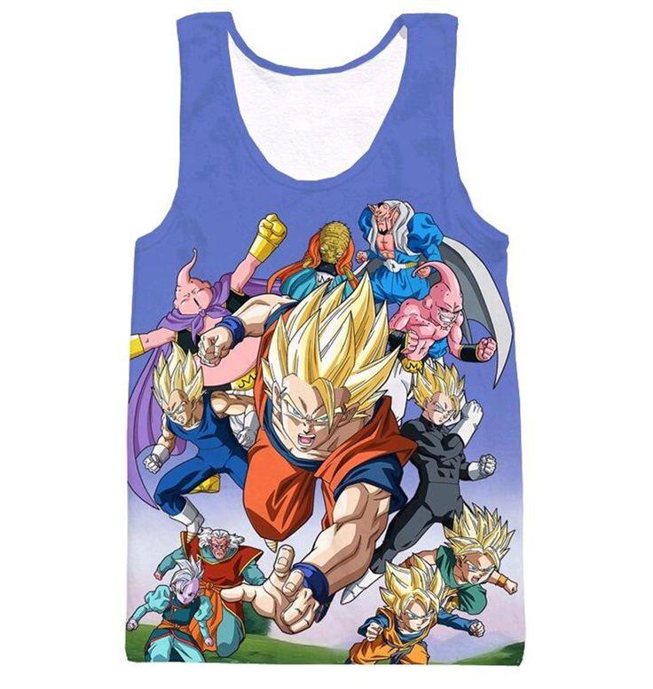 Dragon Ball Z Kame Tank Top - Art Style Gohan Free Shipping