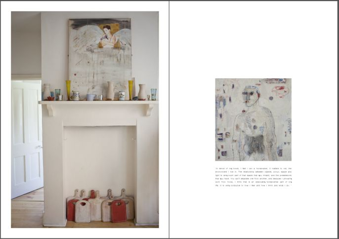 Alice Kettle Home. Page from Collective Space publication.  Photography by Marina Loram. Styling by Poppy Koumis.