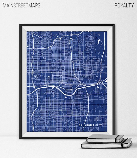 Oklahoma City Map Print Oklahoma City Poster of by MainStreetMaps https://www.etsy.com/listing/226758438/oklahoma-city-map-print-oklahoma-city?ref=shop_home_active_14