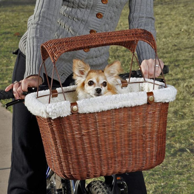 Tagalong Wicker Bicycle Basket | from hayneedle.com
