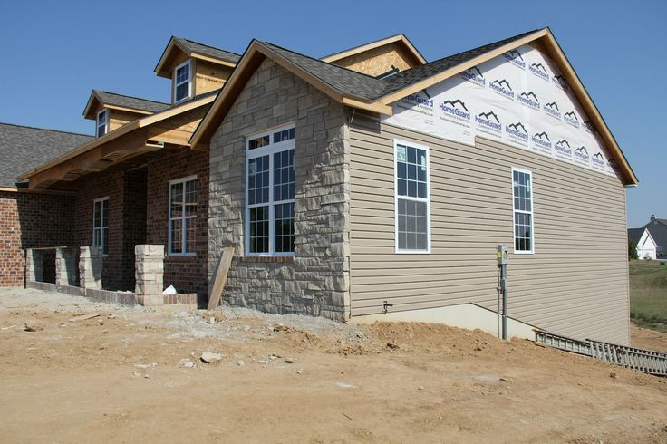 Pebblestone clay siding house pinterest the o 39 jays for Brick stone siding