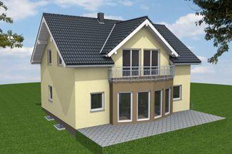 Bautagebuch Einfamilienhaus - 3D-Modell hinten