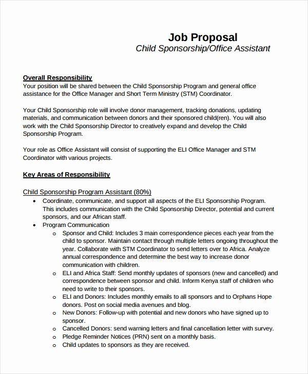 Job Position Proposal Template New 10 Job Proposal Examples Pdf Doc In 2020 Proposal Templates Proposal Example Business Proposal Template