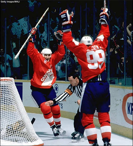 No games tonight so we're going to take a trip back to the 1987 Canada Cup. Two of the greatest - and probably the two greatest - to ever play the game.  1-30-12